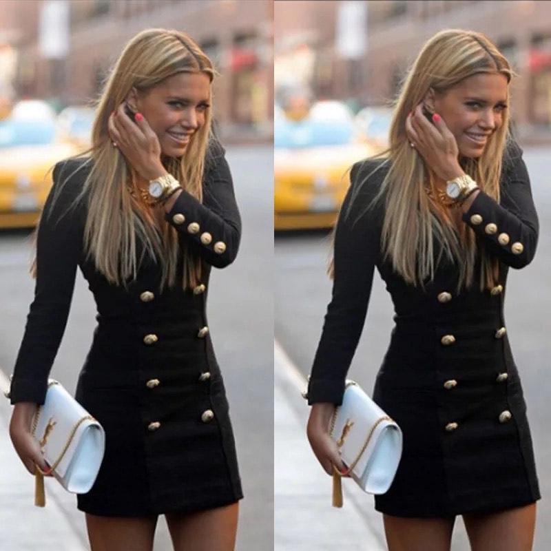 blazer dress V neck