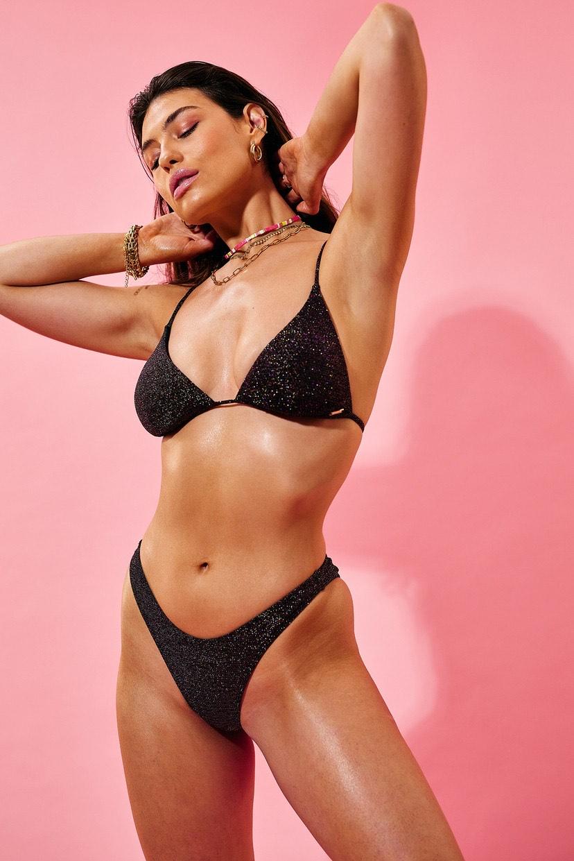 black glitter bikini